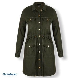 NEW City Chic Adventure Time Jacket Olive Green